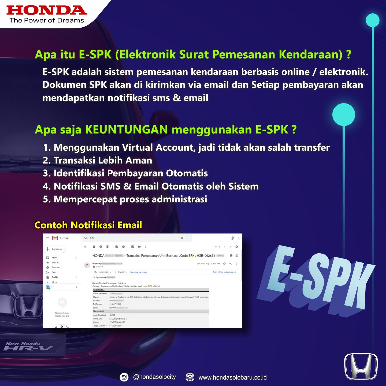 E-SPK Dealer Honda Perkasa Klaten Telah Diluncurkan