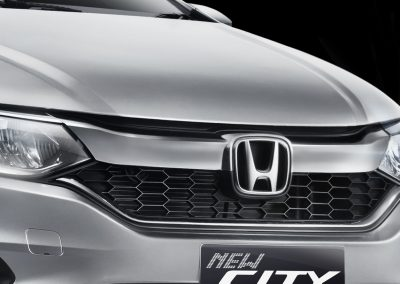Sharp Front Grille Design