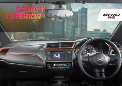 Sporty Dashboard Design with Orange Lining (RS)