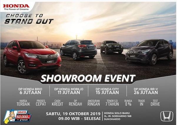 Undangan Showroom Event Honda Solo Baru 19 Oktober 2019