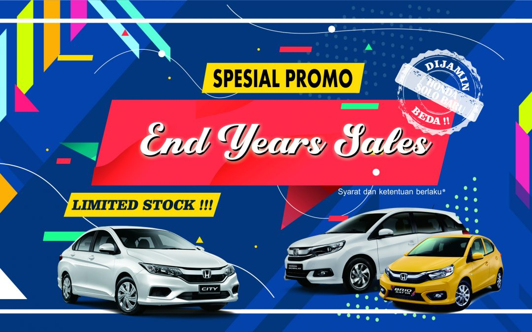 """Spesial Promo """"END YEARS SALES HONDA LIMITED STOCK"""""""