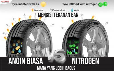 Mana yang lebih Untung, Mengisi tekanan Ban dengan Nitrogen atau Angin Biasa