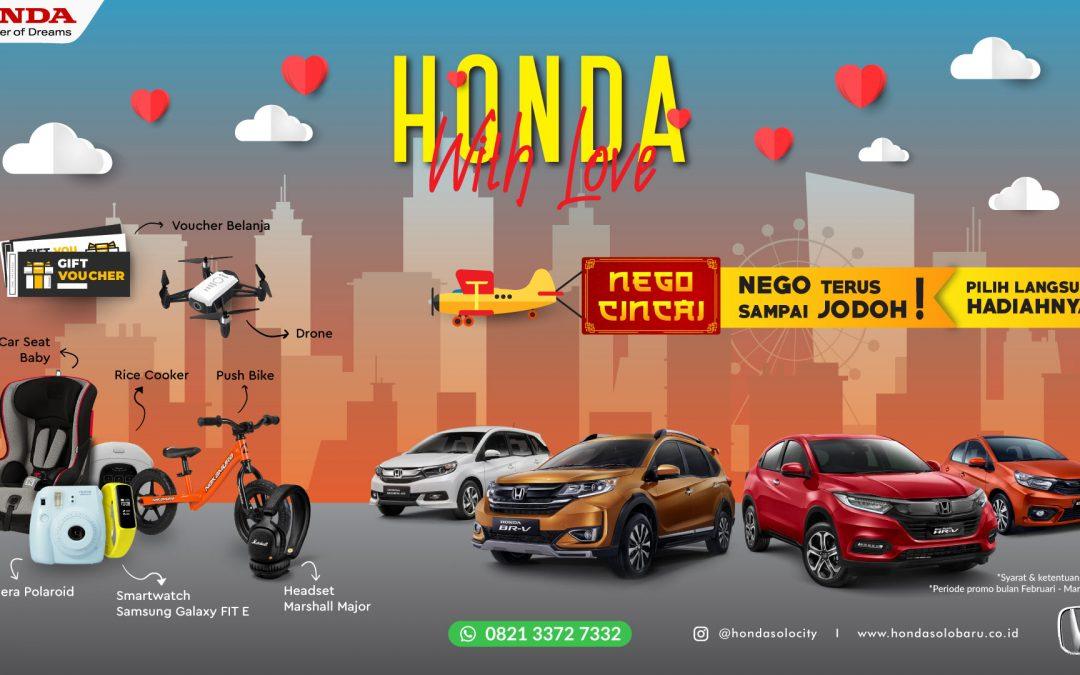 Spesial Promo Honda With Love Maret 2020, Nego terus sampai Jodoh !