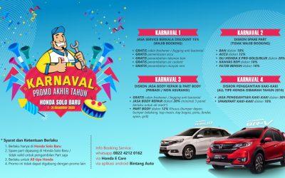 Promo Service Honda Akhir Taun Karnaval