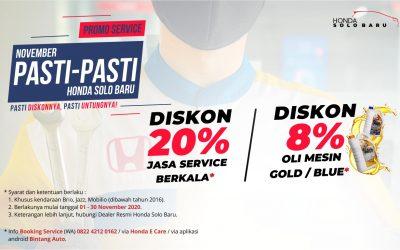 Promo Service November Pasti-pasti
