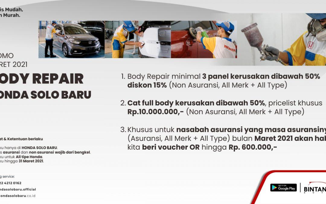 Promo Maret Murah Body Repair Mobil