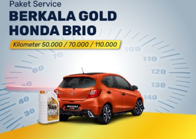Paket Service GOLD Honda Brio 50K/70K/110K