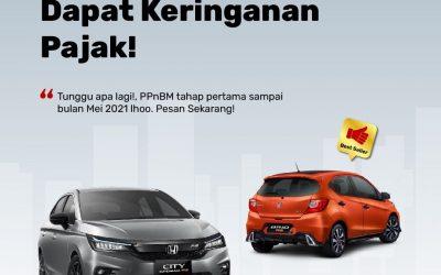 6 Mobil Honda Yang mendapatkan Keringanan Pajak PPNBM