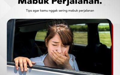 Tips Hindari Mabuk Kendaraan